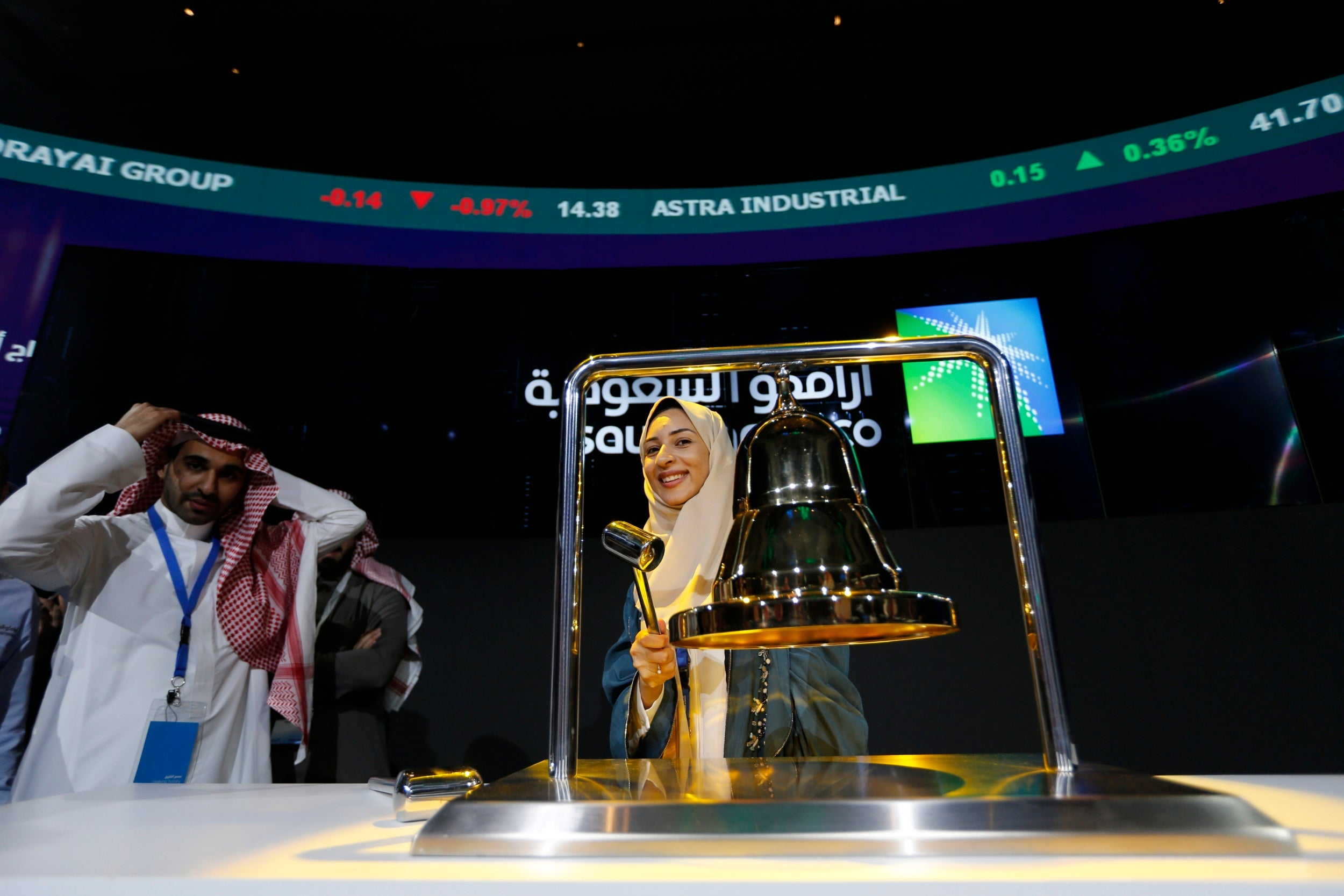 Saudi Aramco becomes world's most valuable listed company as shares surge 10% after record-breaking IPO