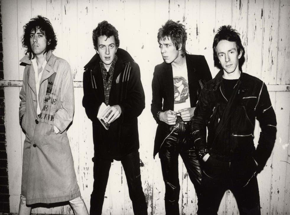 The classic Clash line-up, 1978: Mick Jones, Joe Strummer, Paul Somonon, Topper Headon