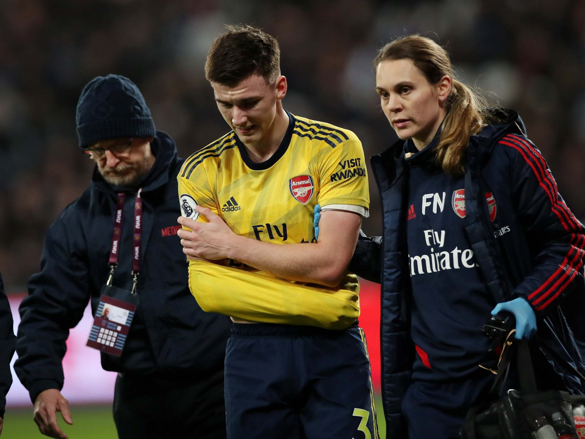 Kieran Tierney Injury Arsenal Defender Ruled Out For Three Months The Independent The Independent