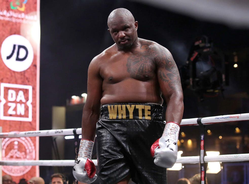 I've waited long enough': Dillian Whyte determined to get his shot at WBC  glory | The Independent | The Independent