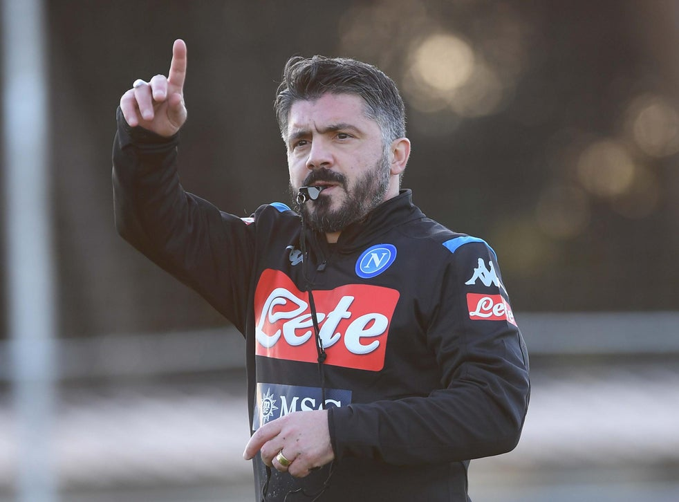 Napoli Appoint Former Ac Milan Manager Gennaro Gattuso To Replace Sacked Carlo Ancelotti The Independent The Independent
