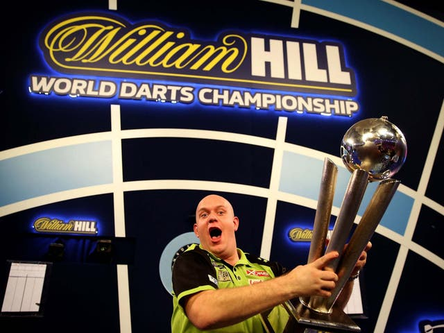Michael van Gerwen is looking to win the World Darts Championship for the fourth time