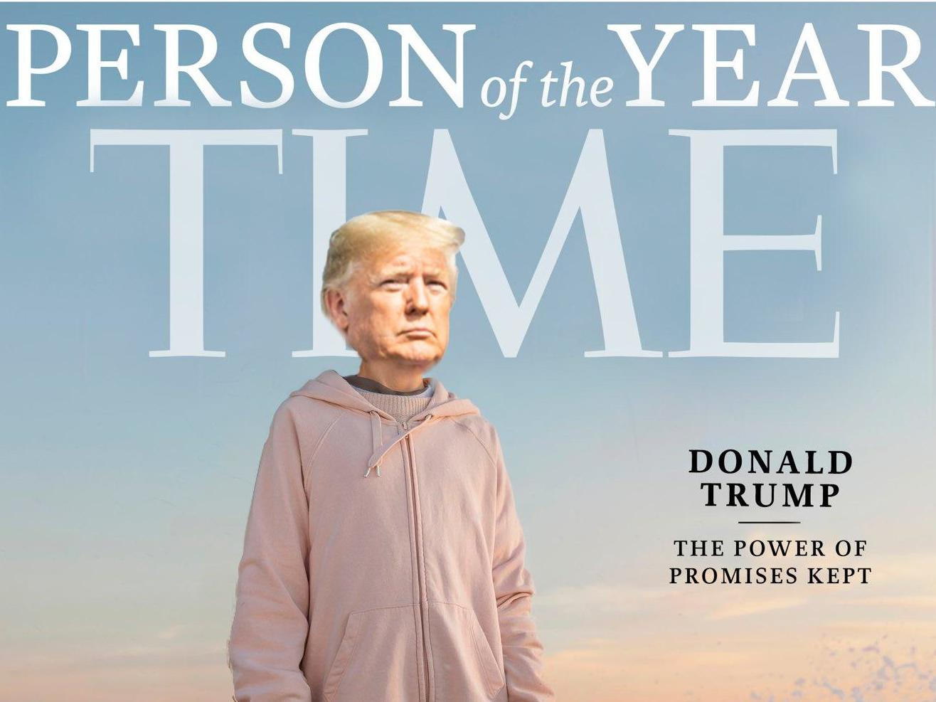 Trump's team Photoshops his face over Greta Thunberg's on Time Person of the Year cover