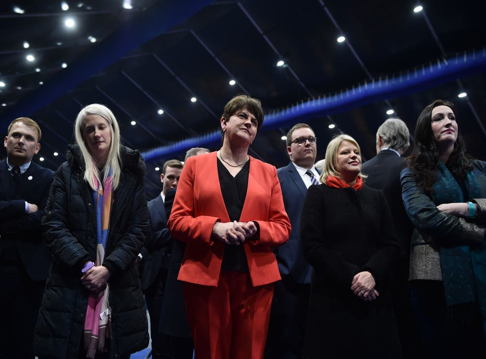 DUP leader Arlene Foster on the night of the general election