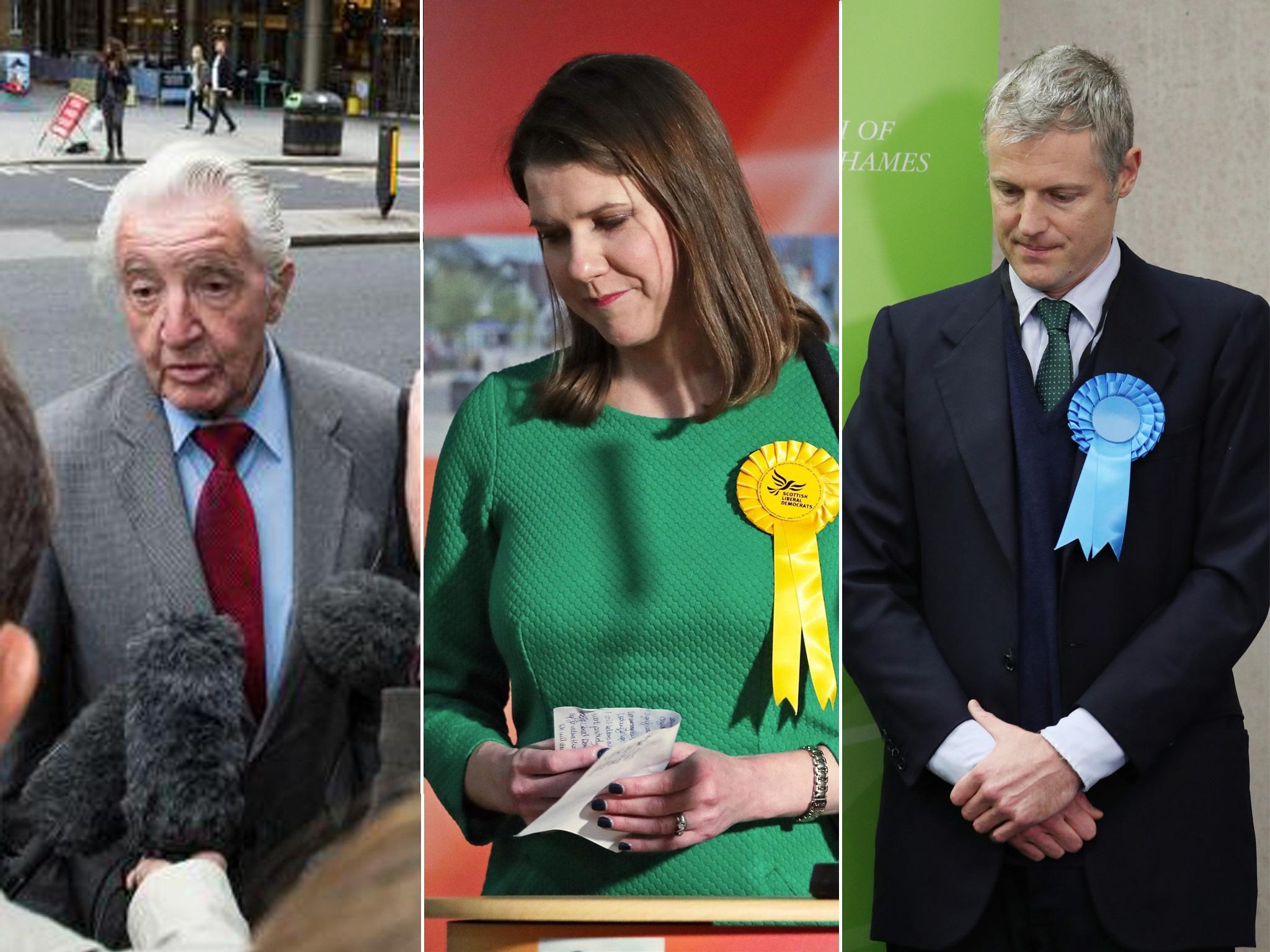 The biggest casualties of the general election, from Jo Swinson and …
