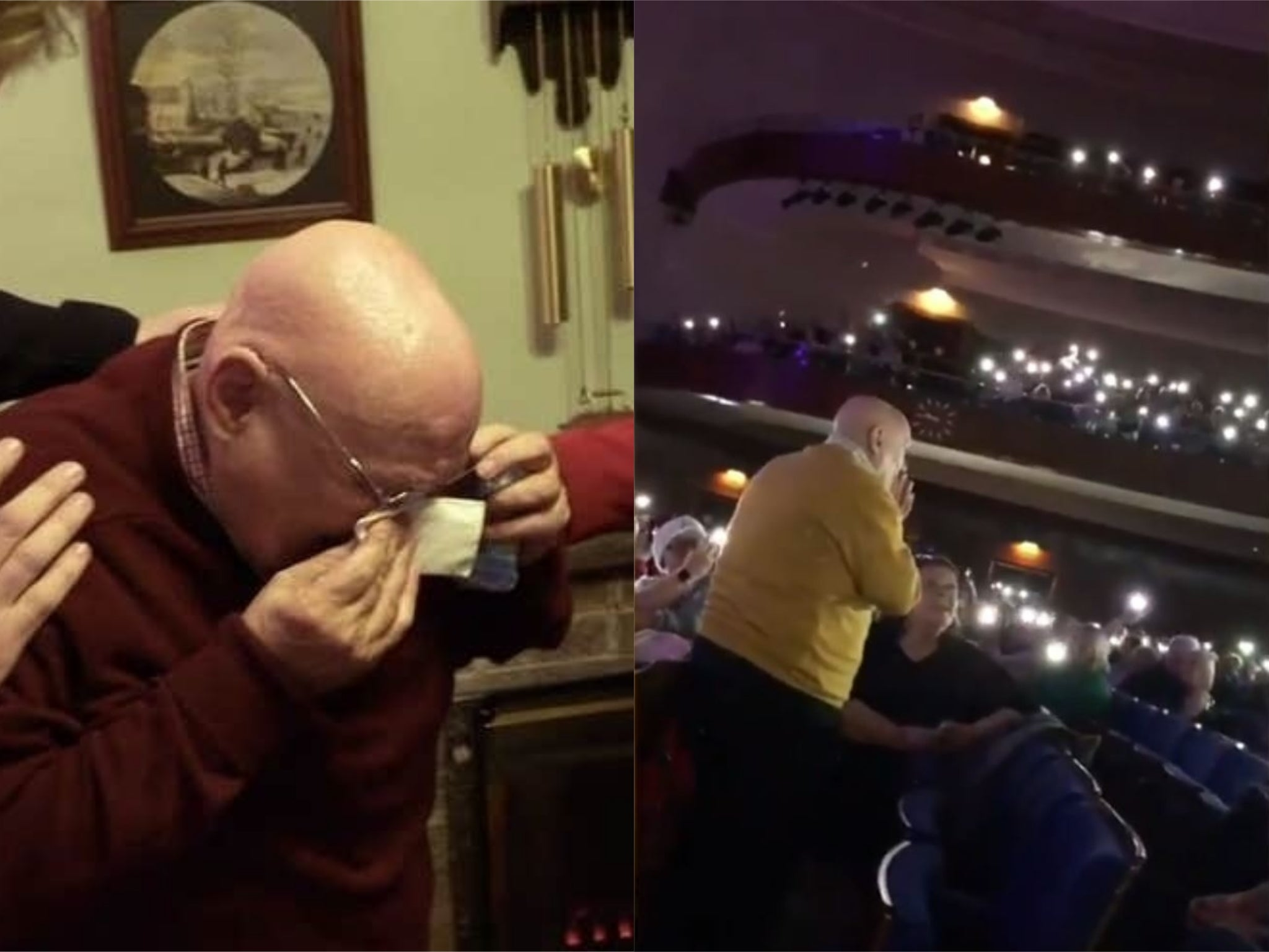 Lonely elderly man who broke hearts on BBC Breakfast is serenaded by hundreds with favourite carol