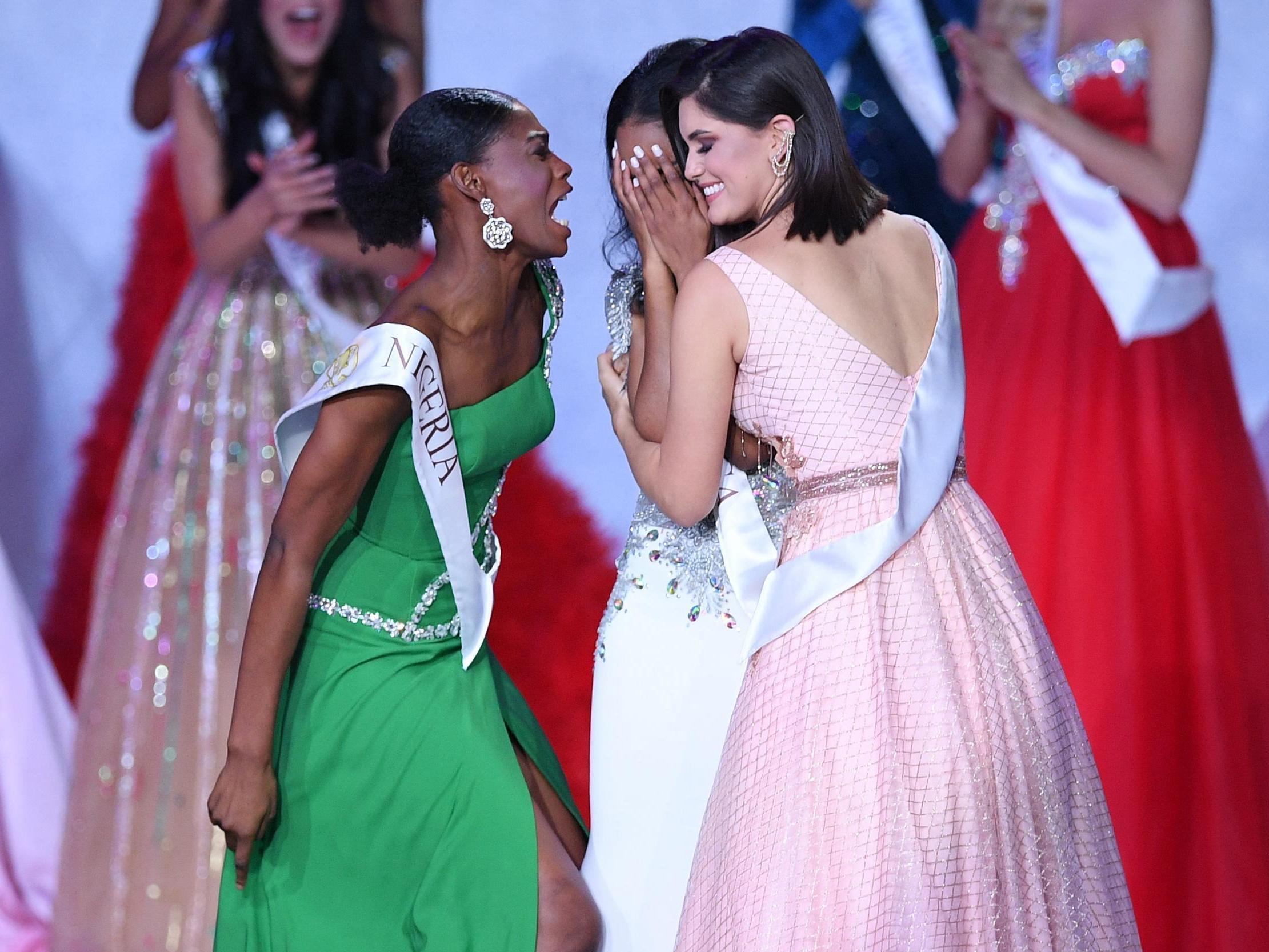 Internet praises Miss Nigeria's reaction to Miss Jamaica winning the 2019 Miss World crown