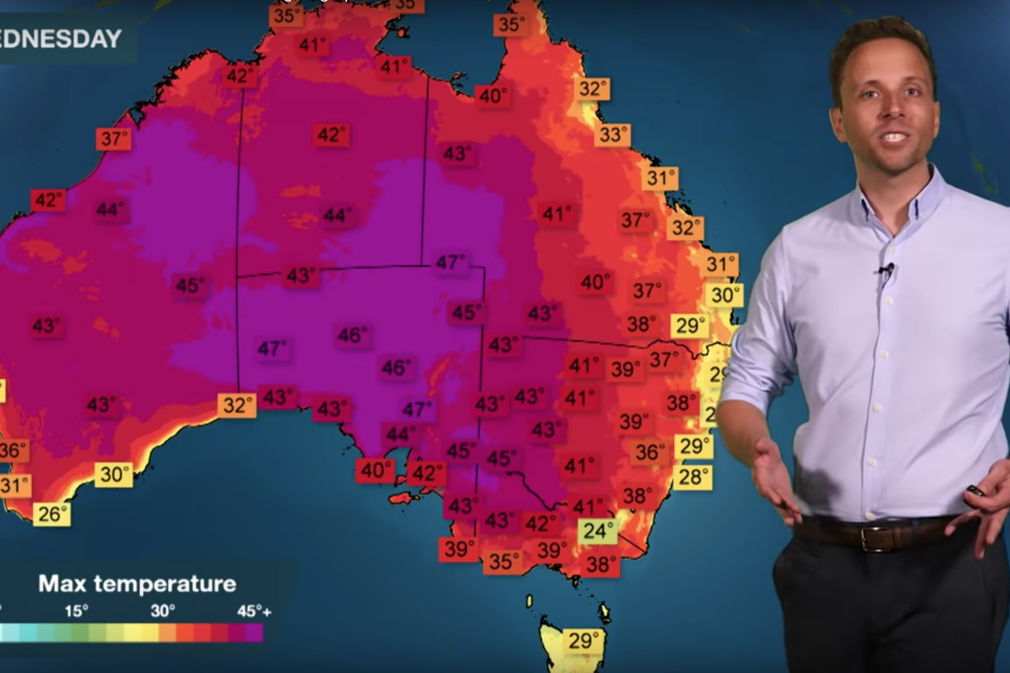 'Like a furnace': Australia set to see hottest day ever with 50C forecast as devastating bushfires rage
