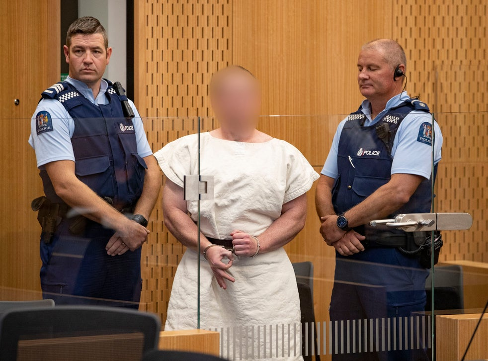 Brenton Tarrant made the symbol at his trial earlier this year