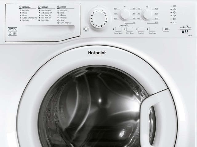 Undated handout photo issued by Whirlpool Corporation of a Hotpoint washing machine model