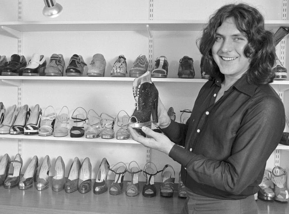In his shop on the King's Road, Chelsea, in 1974