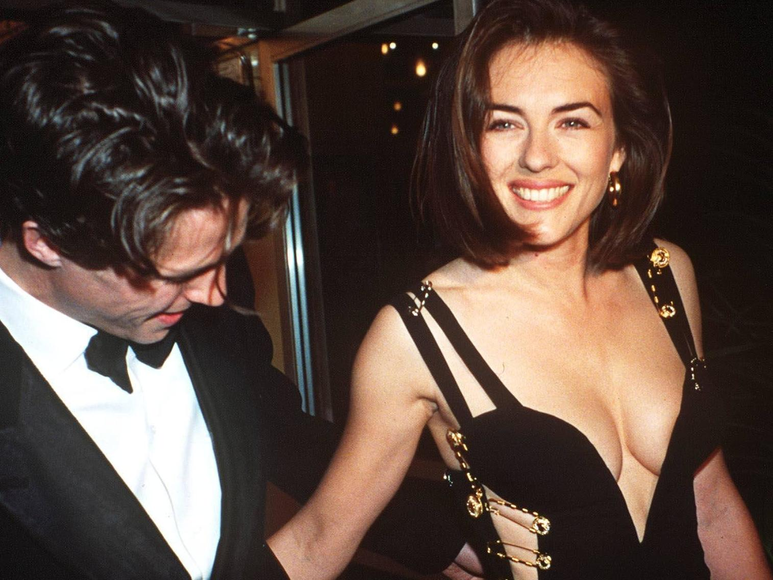 Hugh Grant Liz Hurley Only Wore Versace Safety Pin Dress Because