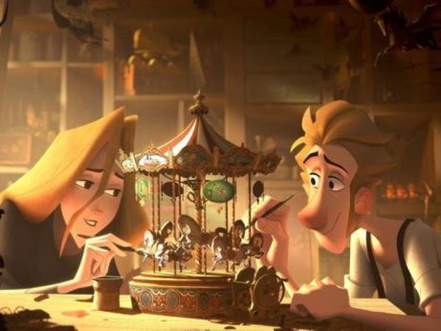 A still from Sergio Pablo's animated Christmas film, Klaus