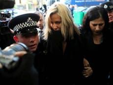 Ex-Love Island presenter Caroline Flack pleads not guilty to assault