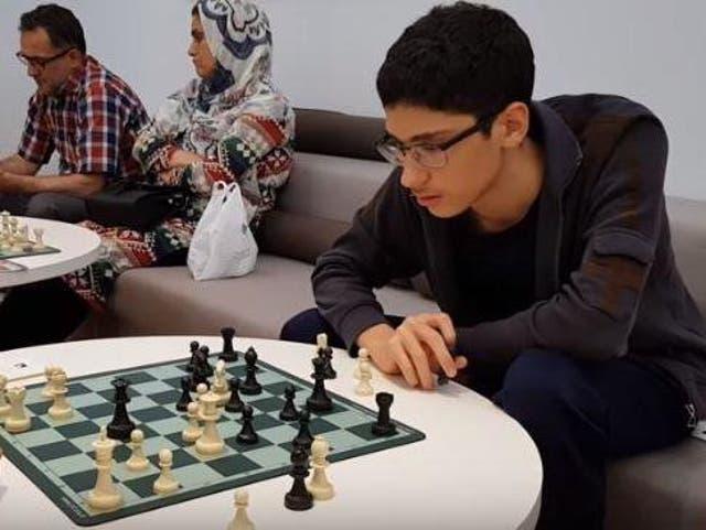 Alireza Firouzja, 16, is the world's second-highest rated junior player