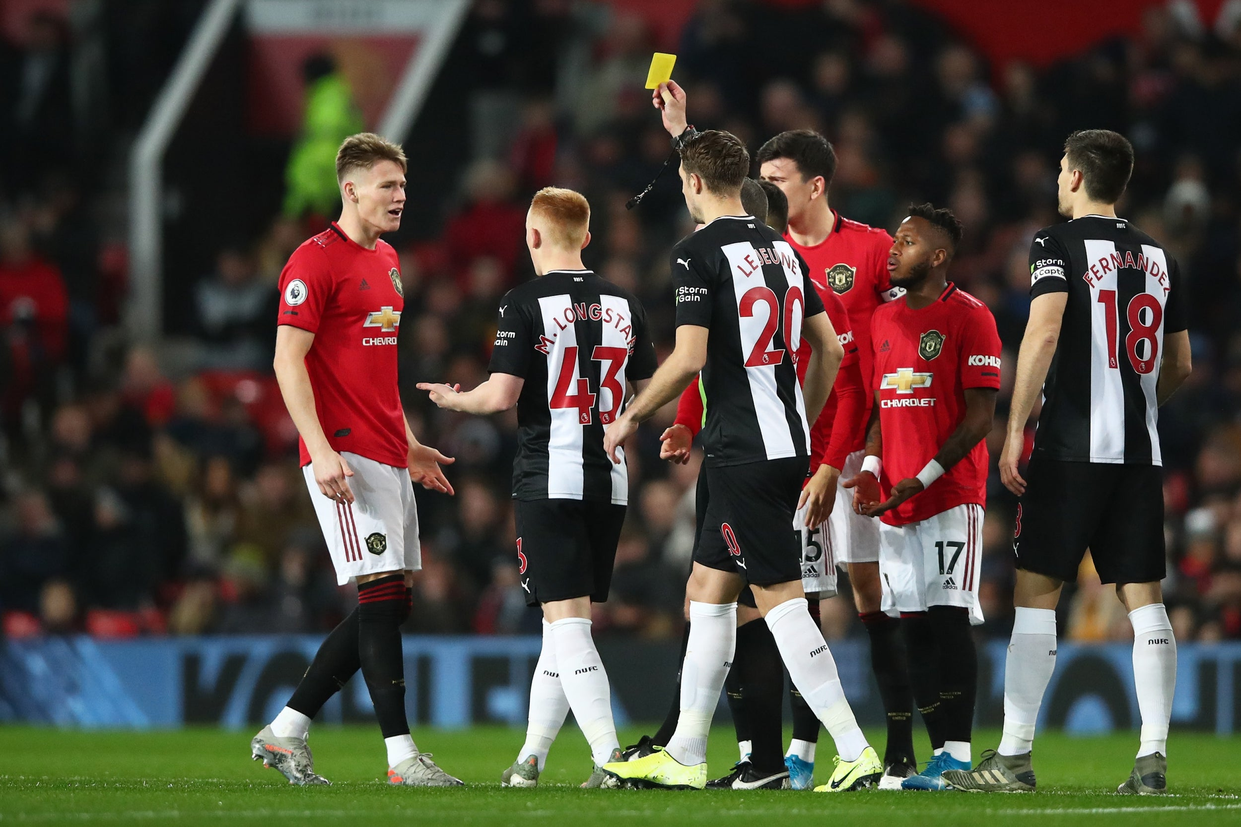 Image result for scott mctominay yellow cards
