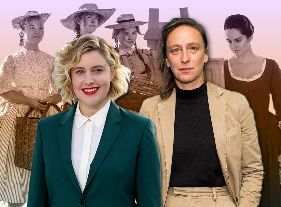 Writer-directors Greta Gerwig (left) and Céline Sciamma. Behind them (from left) are Florence Pugh, Saoirse Ronan and Eliza Scanlen in 'Little Women', and Noémie Merlant in 'Portrait of a Lady on Fire'