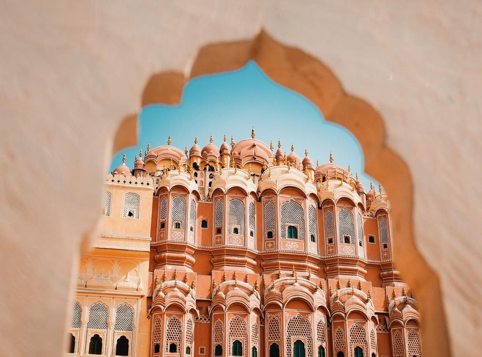Inside the Hawa Mahal or the Palace of Winds in Jaipur, India