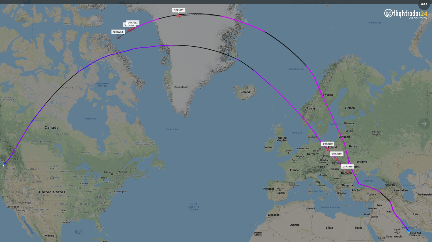 'Slowest game of ping pong': Seven empty Dreamliners flown back to the US a day after being delivered to Qatar