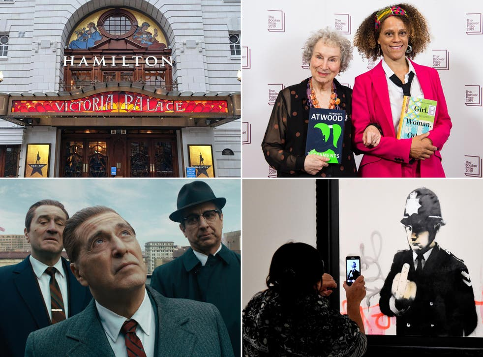 In the firing line are (clockwise, from top left) exorbitant theatre prices, dithering literary prize judges, overcrowded galleries and interminable movies