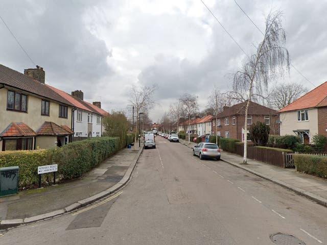 General view of Nowell Road in Barnes, Richmond, London