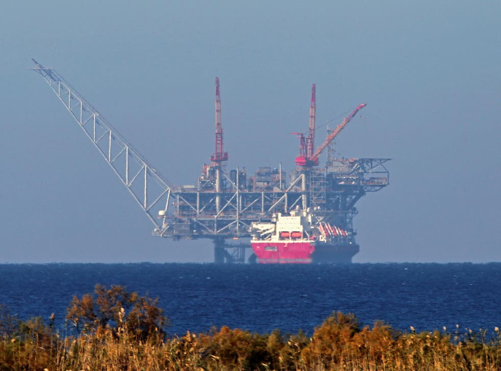 Israel's Leviathan natural gas field in the Mediterranean Sea, which began pumping gas just before the new year