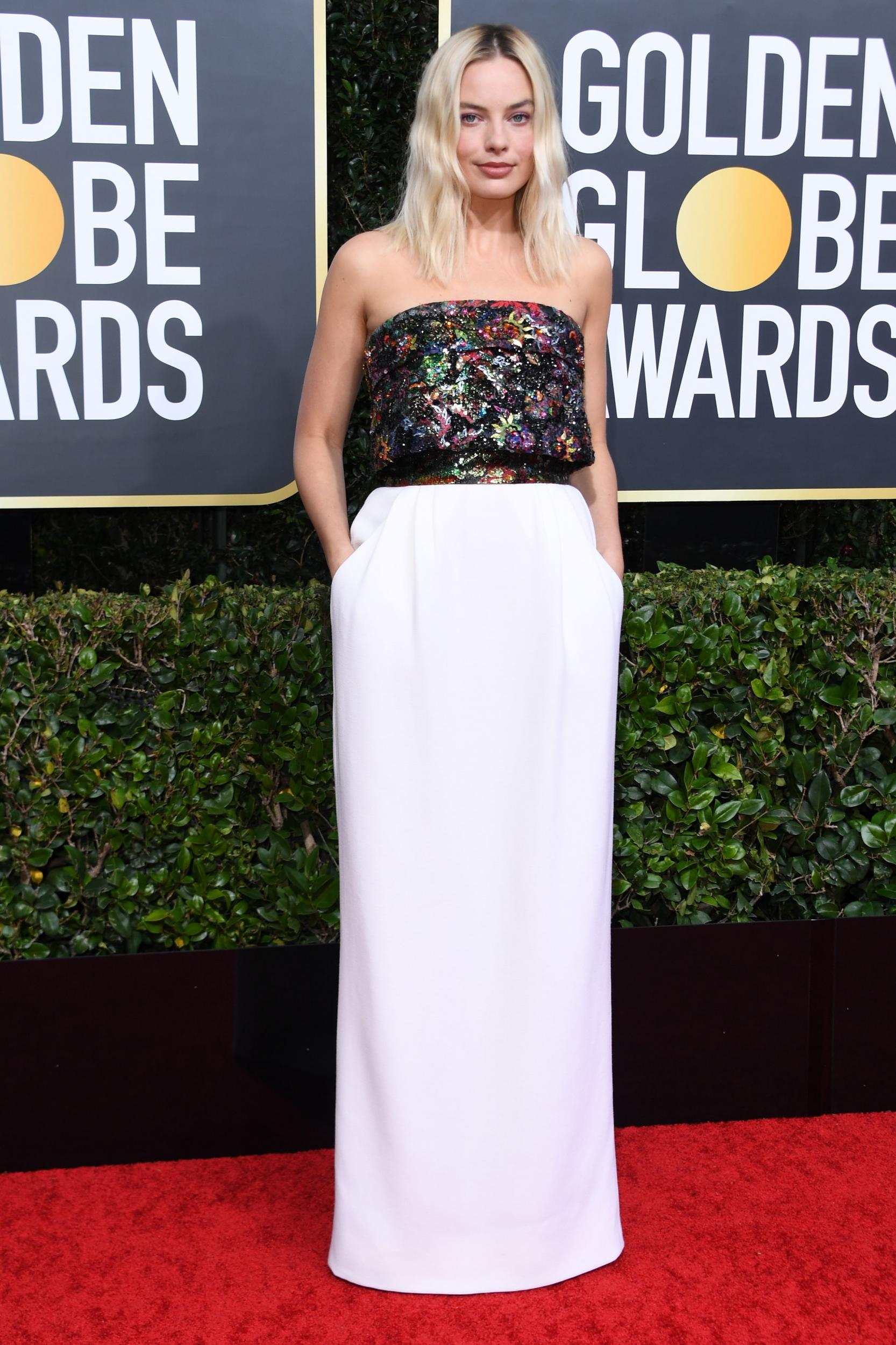 Image result for Golden Globes Margot Robbie dress