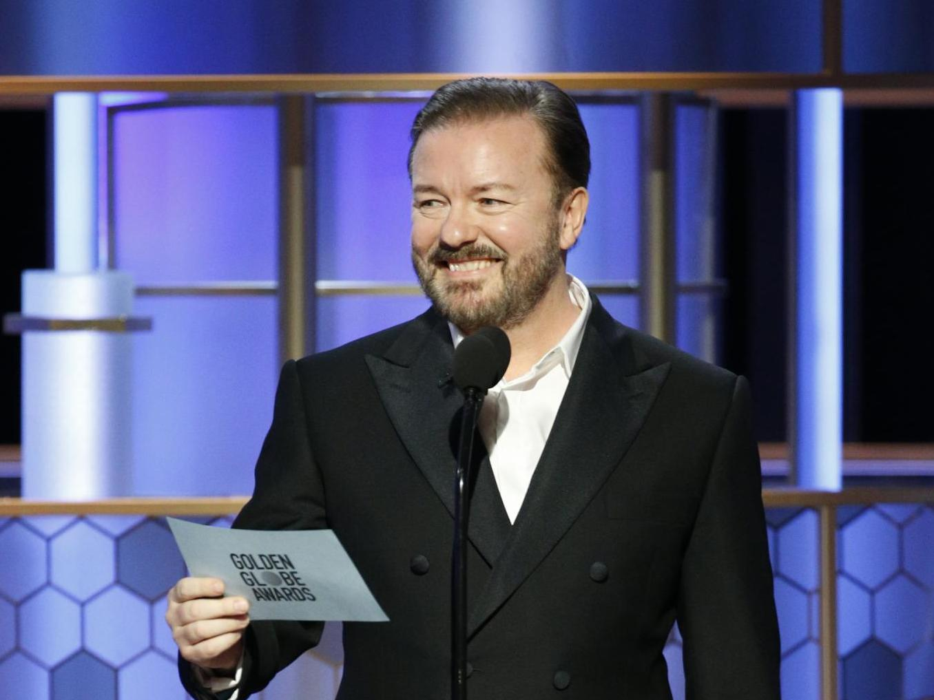 Golden Globes 2020: Read Ricky Gervais's brutal opening monologue in full