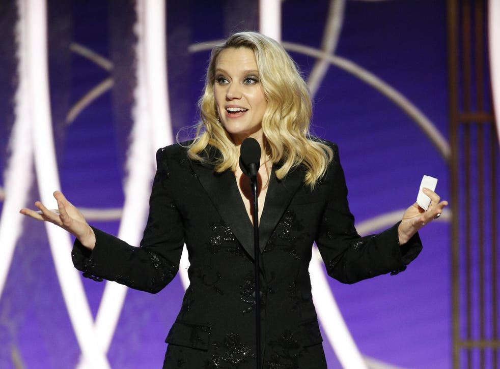 Kate McKinnon onstage at the 2020 Golden Globes