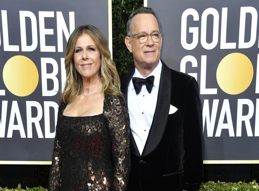 Rita Wilson and husband Tom Hanks looking slick on the red carpet