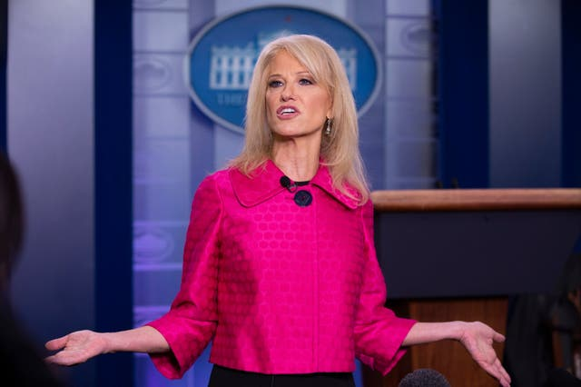 Kellyanne Conway speaking to reporters about the killing of Iranian general Qassem Soleimani