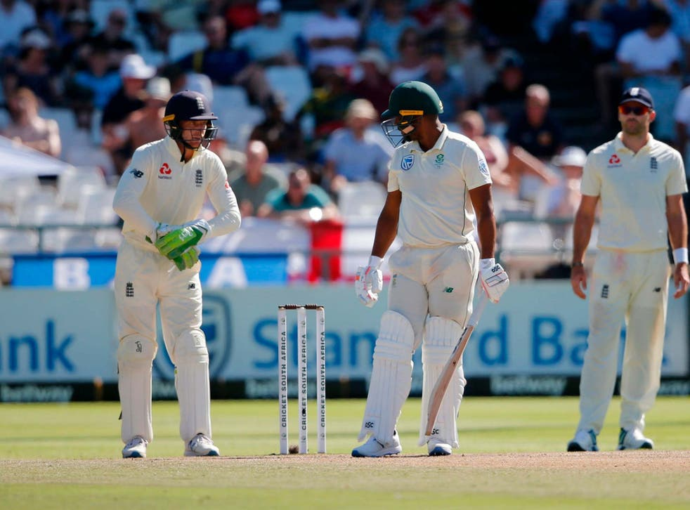 Jos Buttler (left) was fined for his comments to Vernon Philander in the second Test