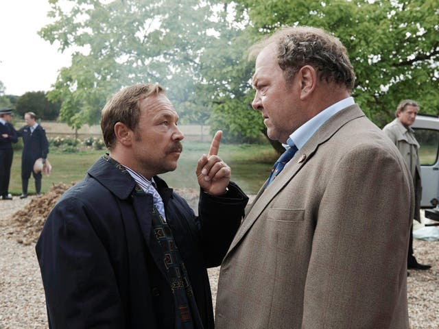 Stephen Graham and Mark Addy in new ITV series 'White House Farm'
