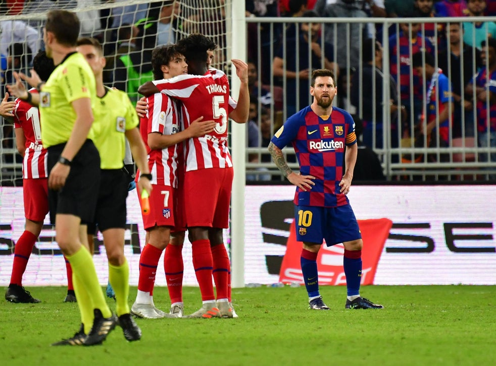 Atletico Madrid Beat Barcelona To Set Up Spanish Super Cup Final Clash With Rivals Real Madrid The Independent The Independent