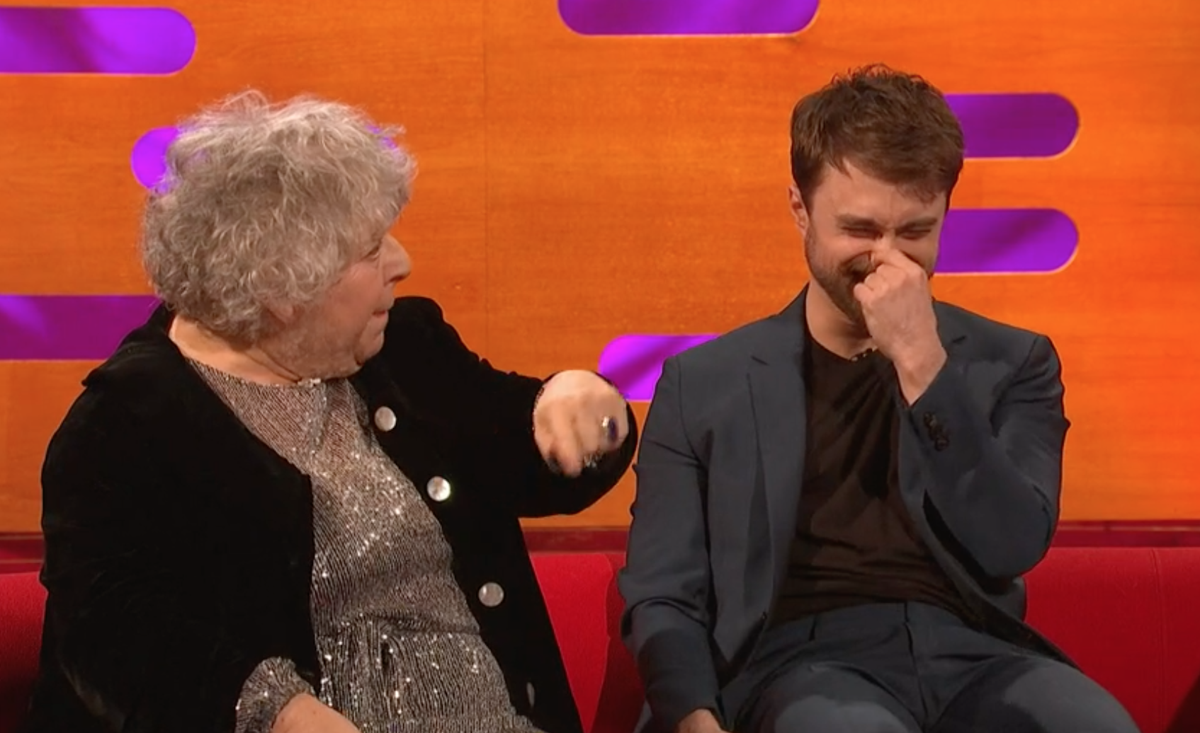 Miriam Margolyes has Daniel Radcliffe in stitches on The Graham Norton Show over 'foreskin' comments