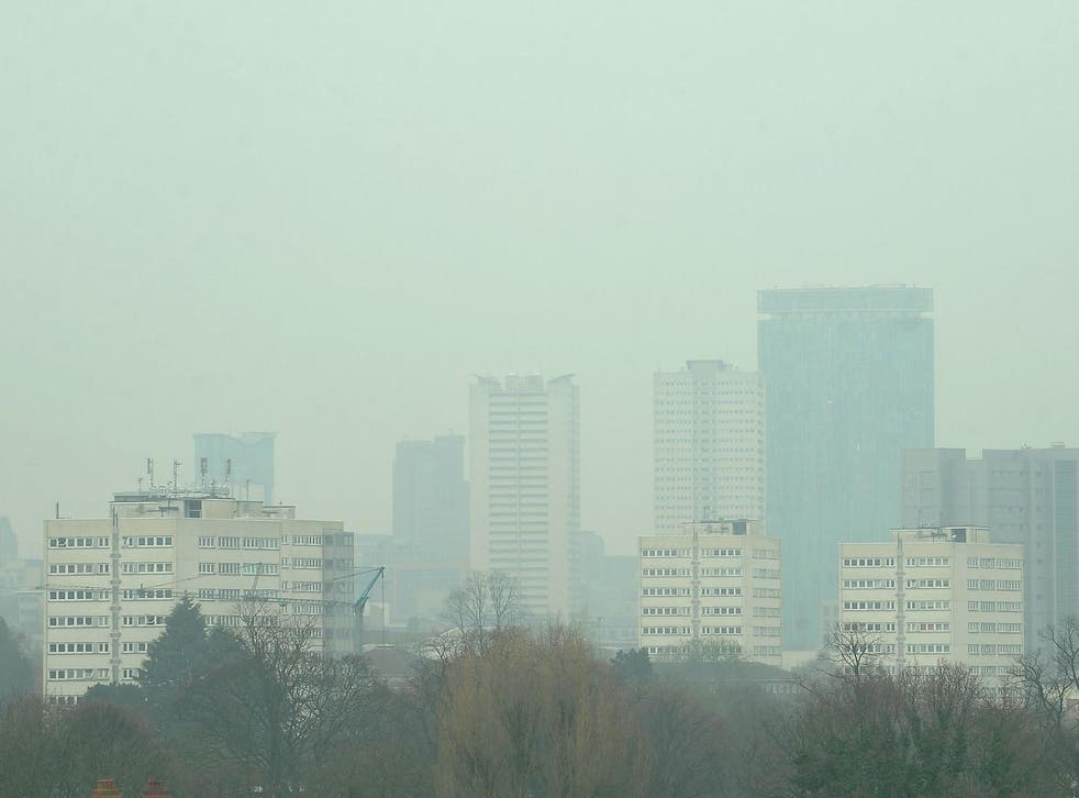 People are breathing dangerous air everyday in towns and cities across the UK. Pictured: Birmingham