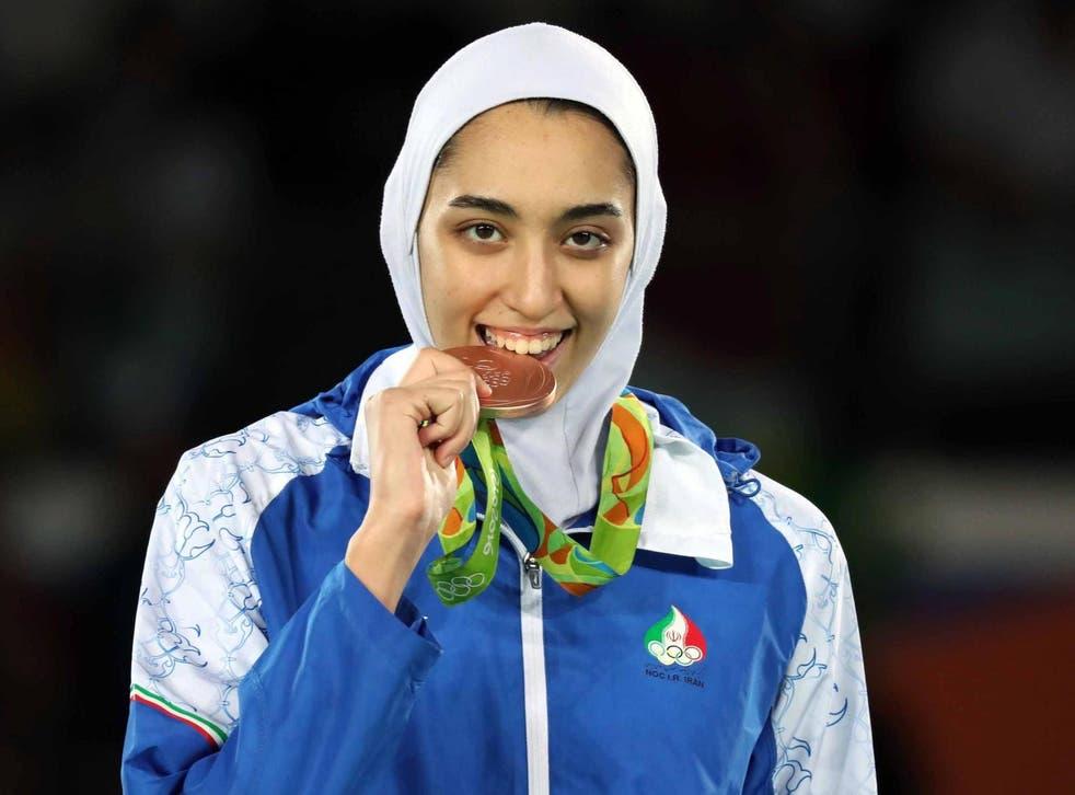 Kimia Alizadeh won bronze in taekwondo at the 2016 games in Rio