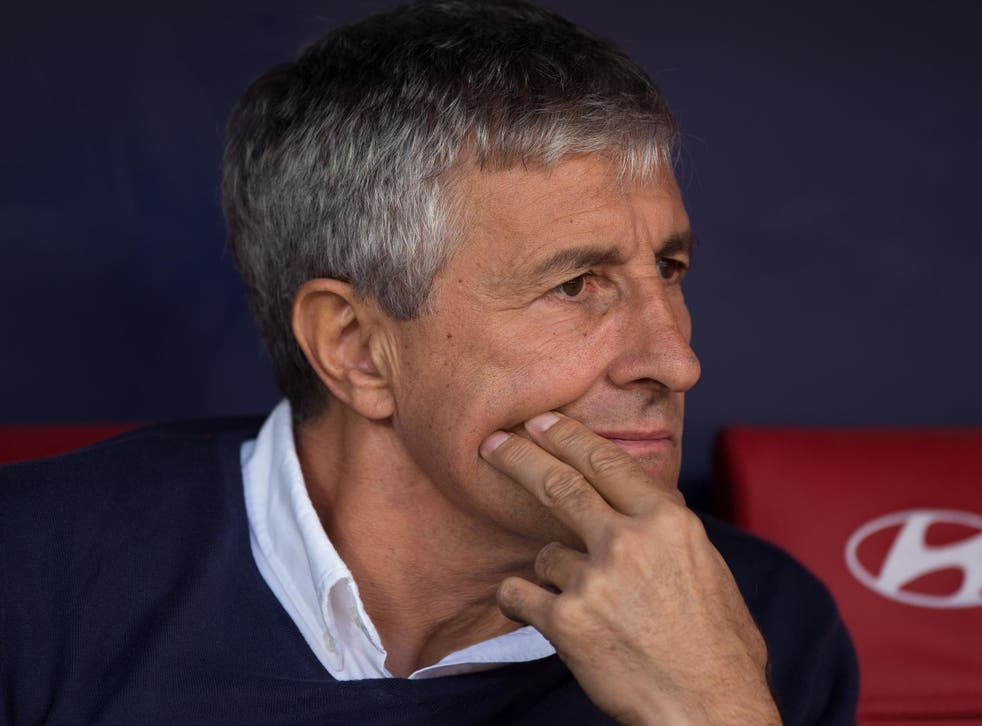 Quique Setien is the new Barcelona manager