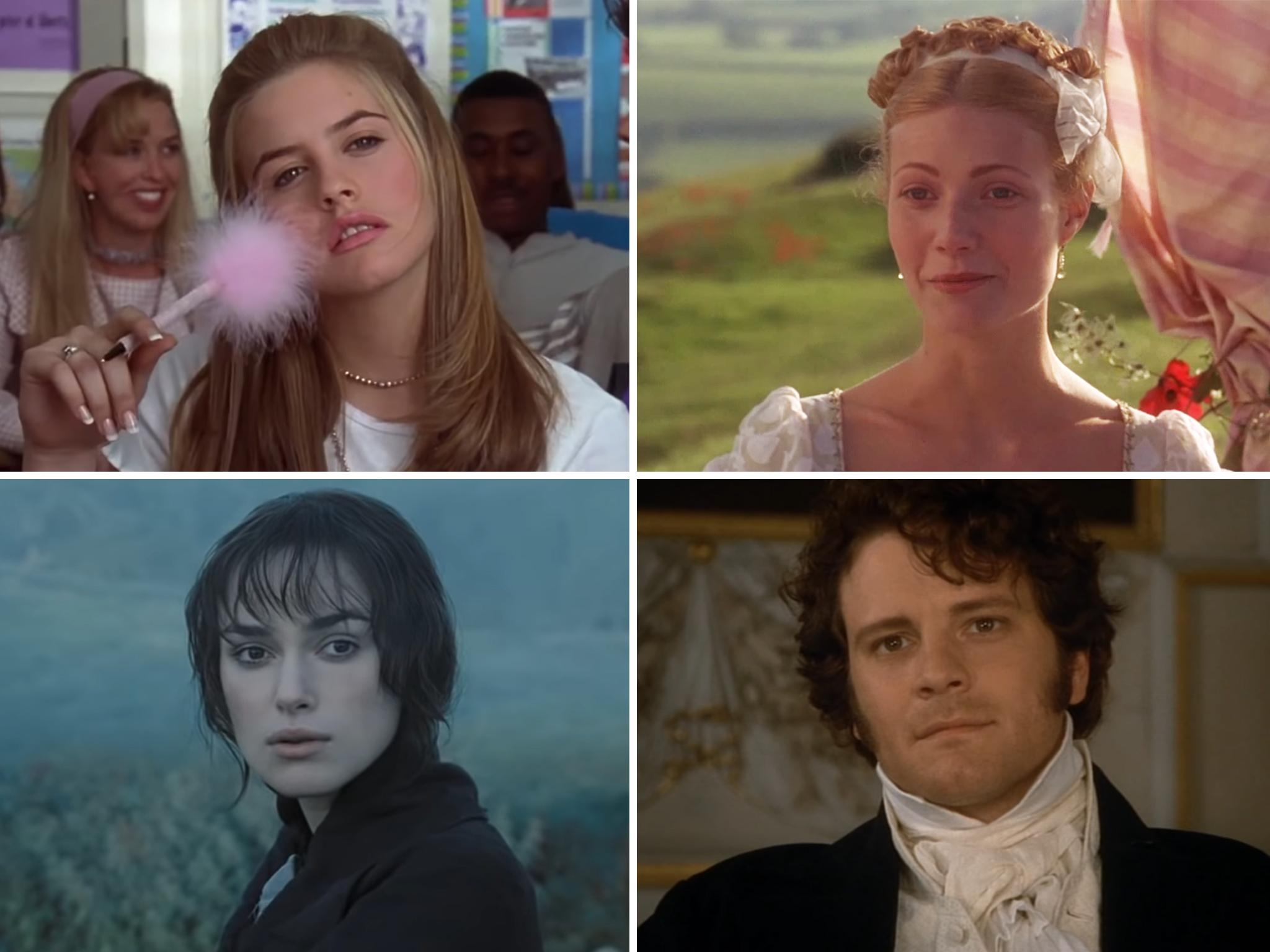 The top 16 Jane Austen adaptations on screen, from Ang Lee's Sense and Sensibility to Alicia Silverstone in Clueless