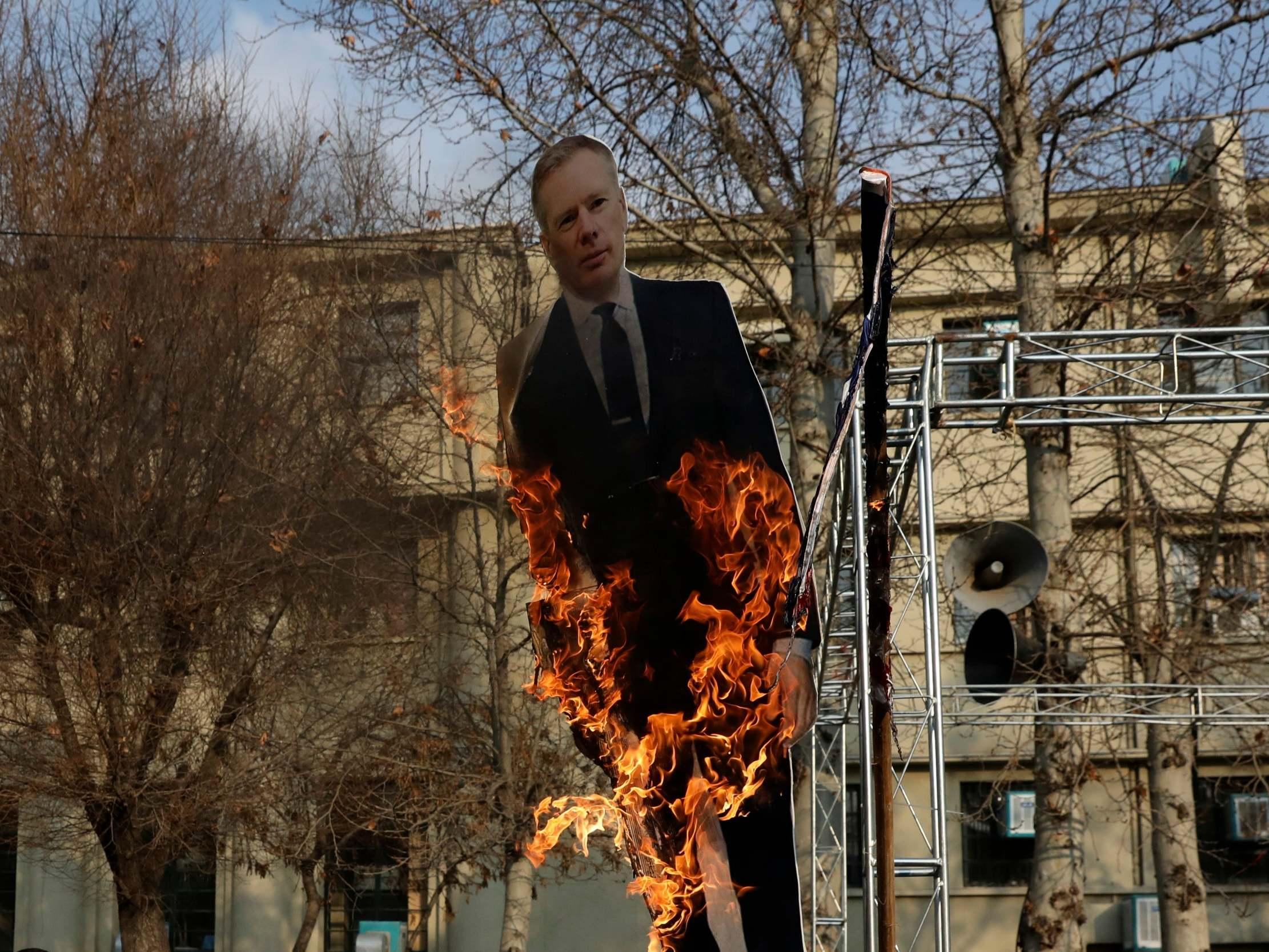 Iran crisis: Effigy of UK ambassador burned in Tehran