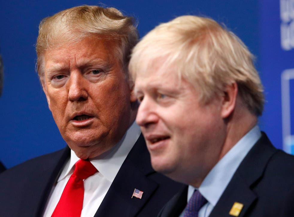 The PM said the UK would 'drive a hard bargain' in the transatlantic negotiations