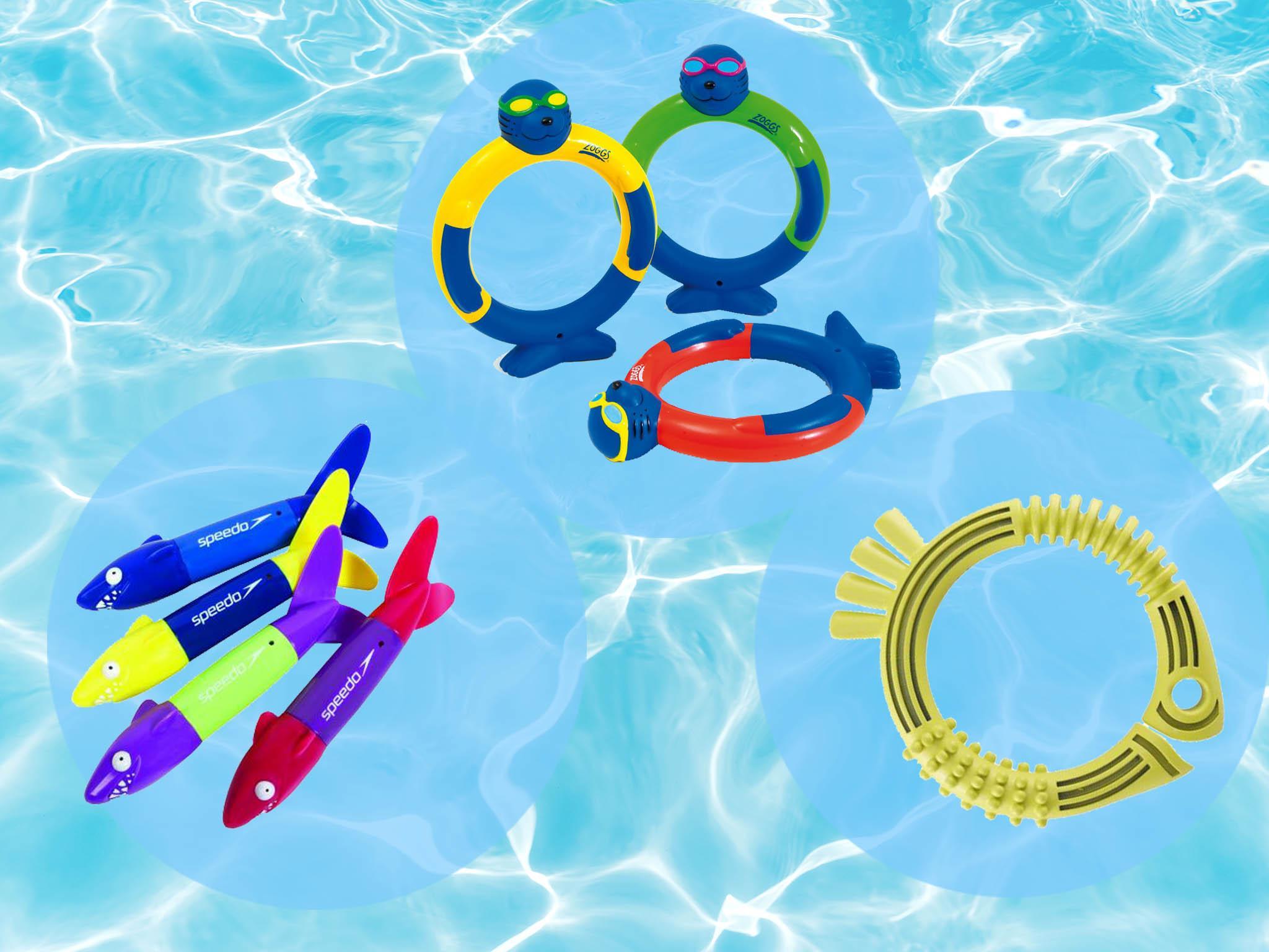 Torpedo Rocket Throwing Toy Diving Game Summer Children Underwater Dive WST