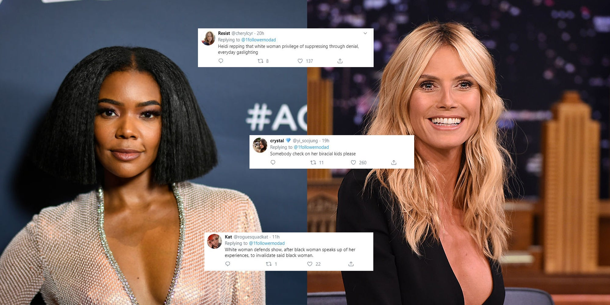 Heidi Klum weighed in on America's Got Talent racism row saying she 'didn't experience the same thing' and everyone's pointing out the obvious