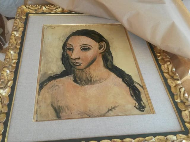 The Picasso painting 'Head of a Young Woman' has been seized by Spanish authorities