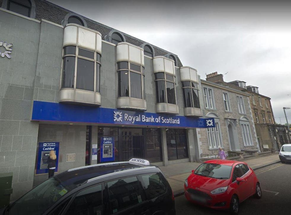 Davies raided the RBS branch armed with a meat cleaver