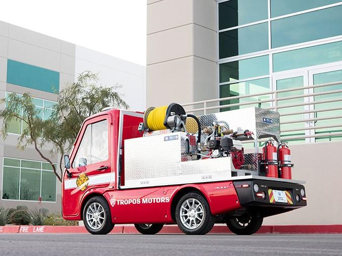 Panasonic unveils mini electric fire engine for narrow alleys and backstreets