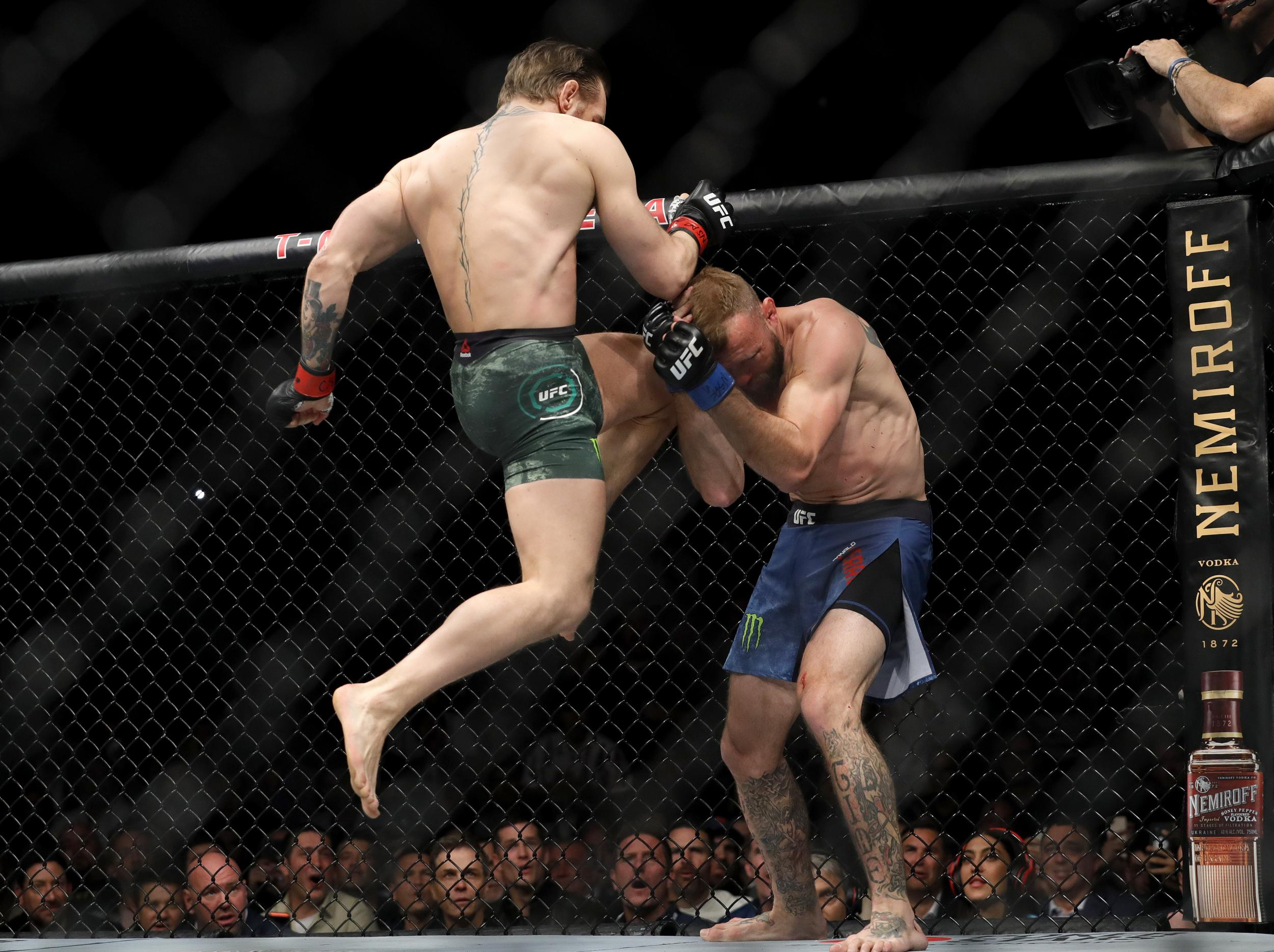 Conor McGregor vs Cowboy: Irishman's emphatic UFC return in 85 glorious photographs