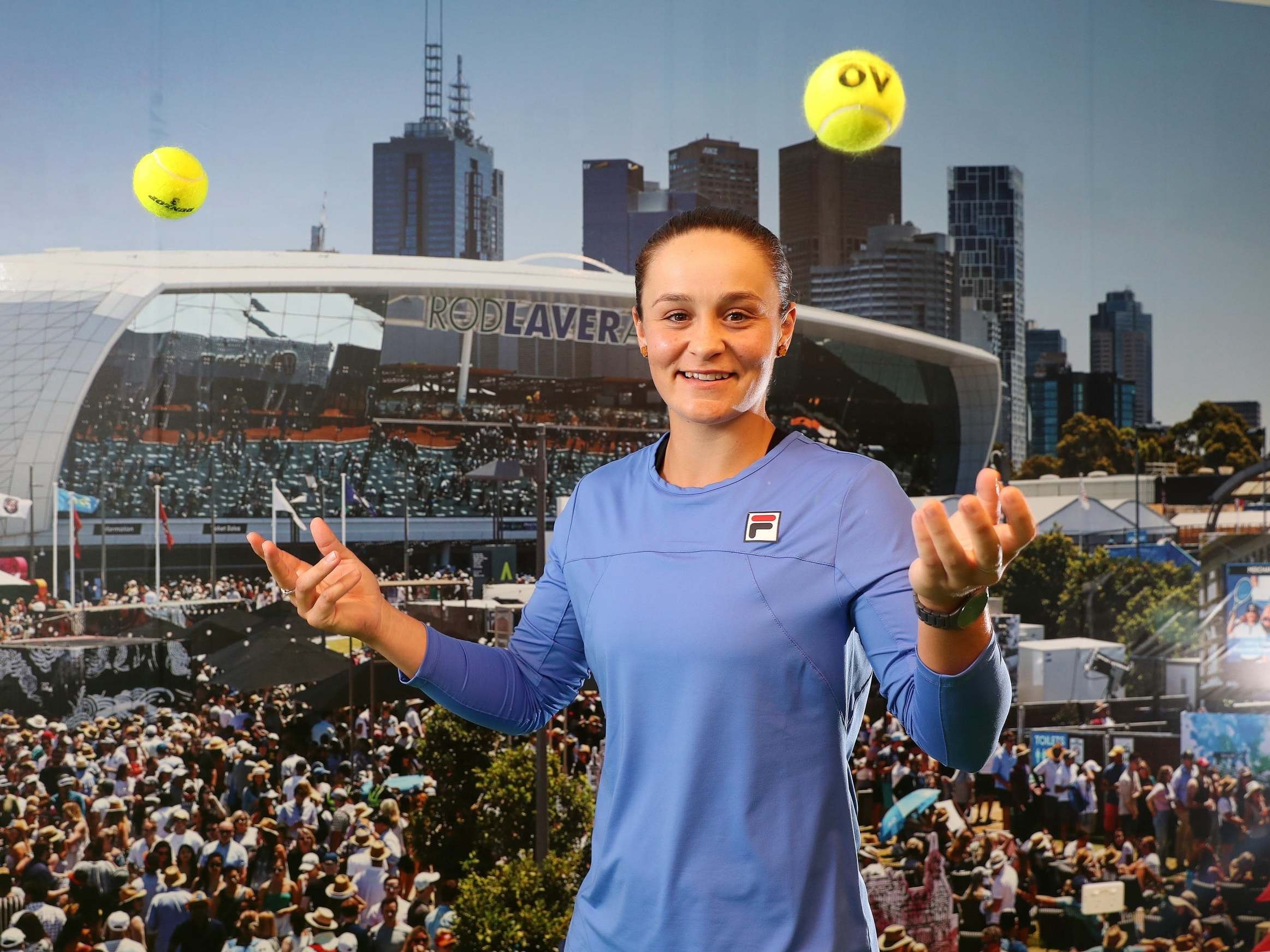 Ashleigh Barty 'a bit sick' of billboard Australian Open homecoming as world No 1 sets distractions aside