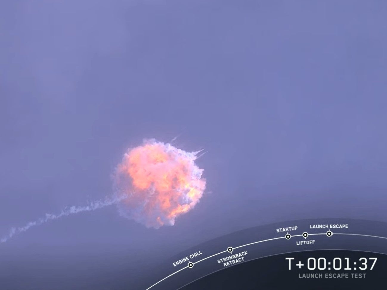 SpaceX rocket explodes mid-flight in astronaut 'Abort Test'