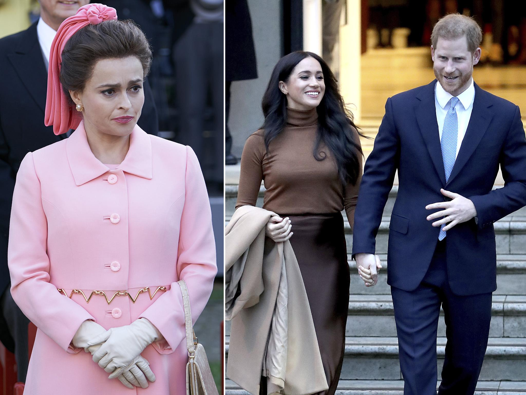 The Crown star Helena Bonham Carter says Harry and Meghan are 'masters of their own destiny'